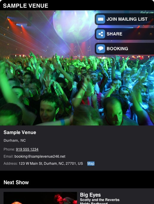 ReverbNation Launches Venue Profile App on Facebook