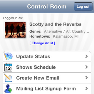 Update Your ReverbNation Show Schedule From Your iPhone