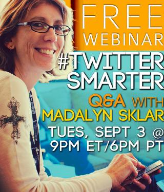 #TwitterSmarter Q&A with Madalyn Sklar