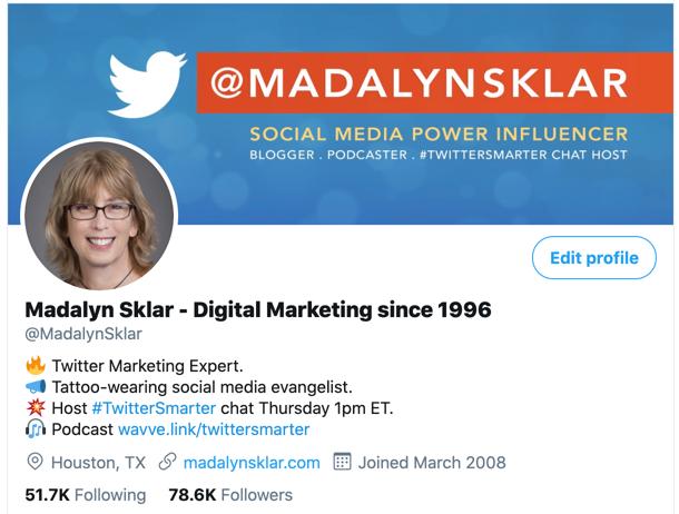 Madalyn Sklar #TwitterSmarter