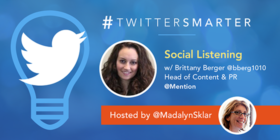 'Social Listening' with Brittany Berger from Mention