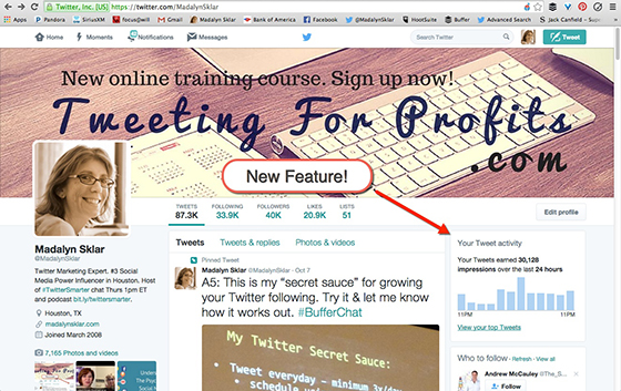 "NEW ON TWITTER! ""Your Twitter Activity"" on Your Profile Page"
