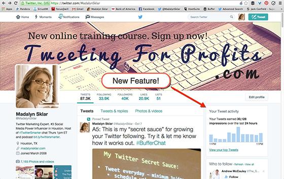 Your Tweet Activity