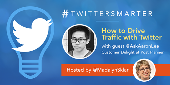 #TwitterSmarter chat with guest Aaron Lee