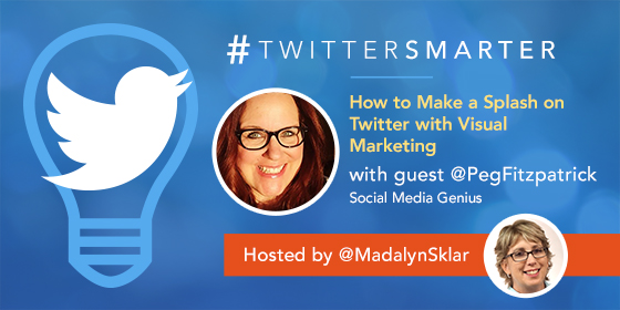 #TwitterSmarter chat with Peg Fitzpatrick