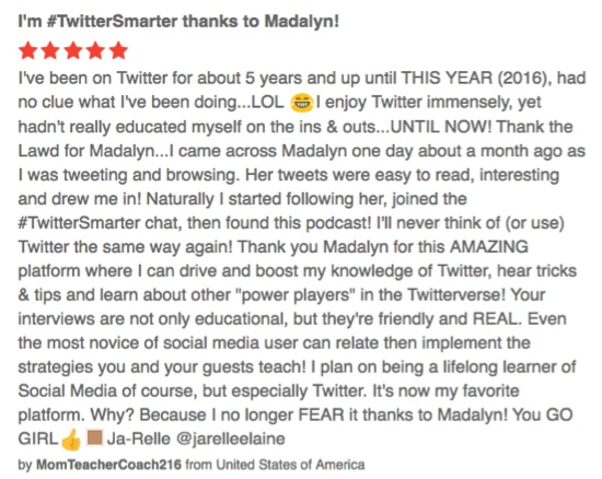 Review of podcast in iTunes