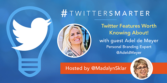 Twitter Features Worth Knowing About with Adel de Meyer