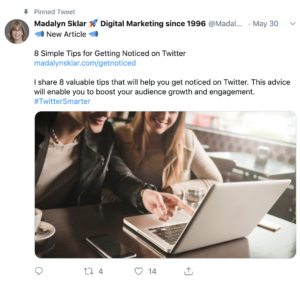 promoting blog posts on twitter