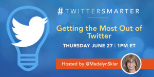 #TwitterSmarter community chat - Getting the most out of Twitter - June 27, 2019