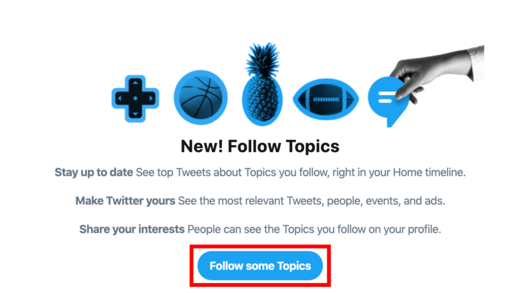 how to follow topics on twitter