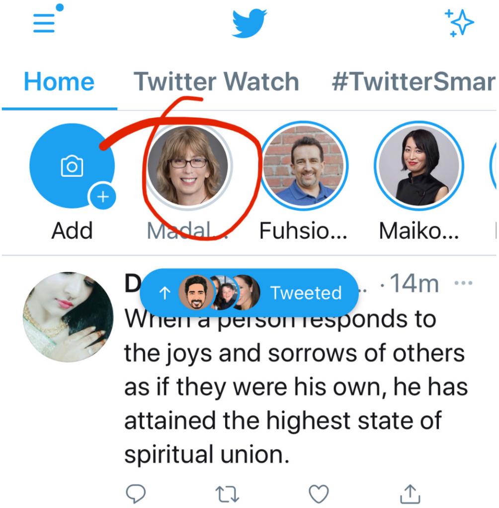 Twitter Fleets feed