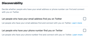 Twitter discoverability