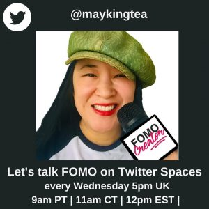 Let's Talk FOMO on Twitter Spaces every Wednesday 12pm ET